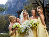 Bride and bridemaids, Ahwahnee Hotel